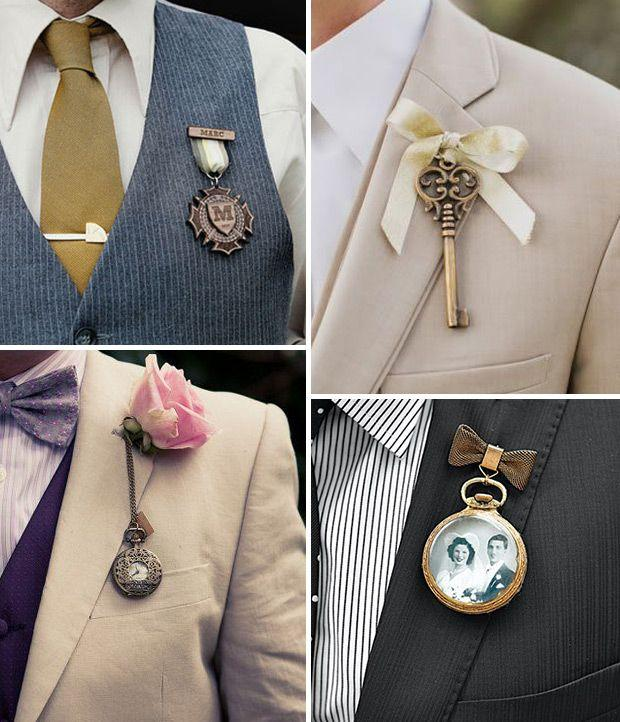 Wedding - Stepping Out Of The Box - 16 Alternative Boutonnieres For Grooms