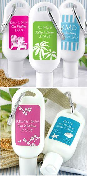 Свадьба - Personalized Sunscreen Favors Silhouette Collection