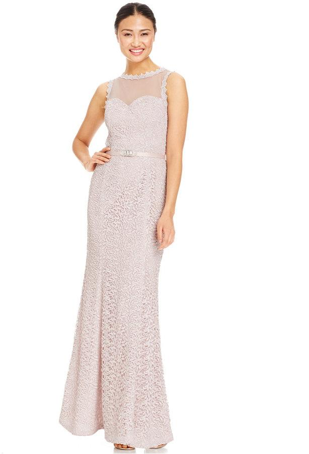 Lace Wedding - JS Collections Illusion Lace Column Gown #2291759 ...