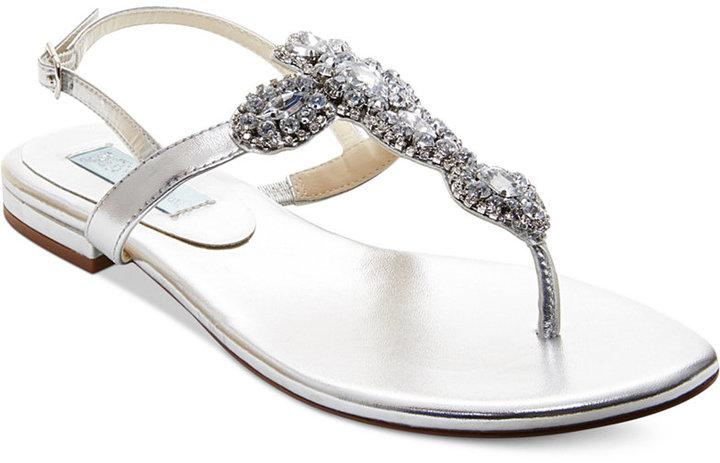 Blue By Betsey Johnson Gem Evening Thong Sandals #2291760 - Weddbook