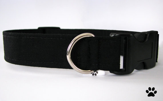 Свадьба - Classic black - adjustable cat and dog collar