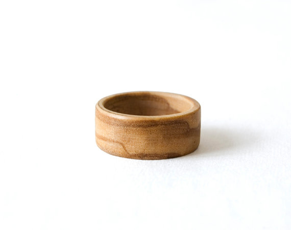 Mariage - Olive Wooden Ring, Engagement Ring, Wood Ring, Wedding Band, Olive Wood Band, Women Ring, Wood Wedding Jewelry, Olive Wood Jewelry