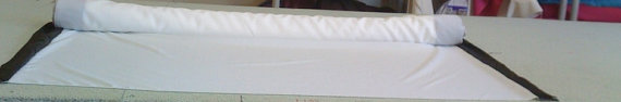 Mariage - Extra Wide Custom Made Aisle Runner Two Colors White Gabardine and Black  Satin
