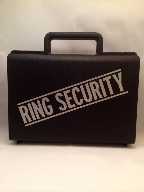 Mariage - Ring Bearer Briefcase, Ring Bearer Gift, Ring Security Case