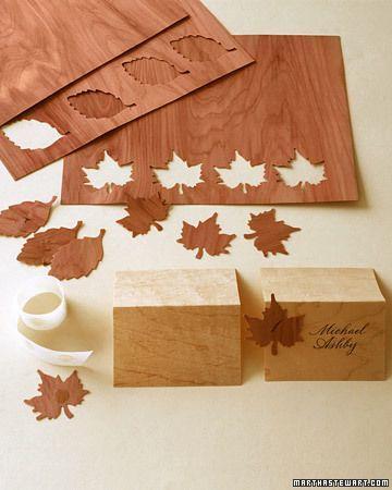 Hochzeit - Wooden Seating Cards