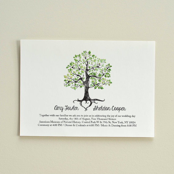 Wedding invitation rustic woodland tree diy printable for Free printable tree wedding invitations