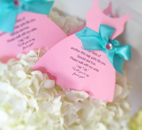 Hochzeit - Will you be my flower girl, will you be my bridesmaid, junior bridesmaid, maid of honor, personalized cards