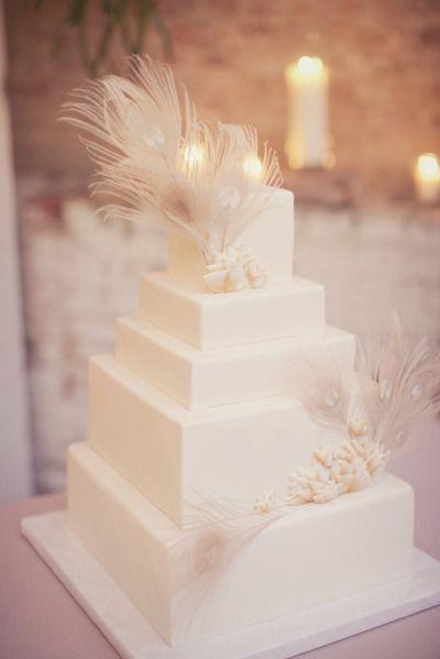 زفاف - Beautiful Feather Cake