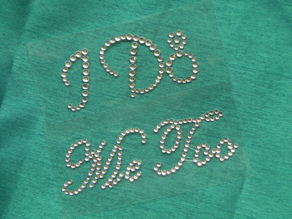 Mariage - I Do and Me Too Rhinestone Shoe Stickers - Crystal Shoe Set - Bride and Groom Shoe Decals