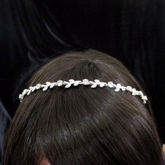 Wedding - Crystal Bridal headband, Wedding headband, Bridal headpiece, Simple head band, Rhinestone head piece