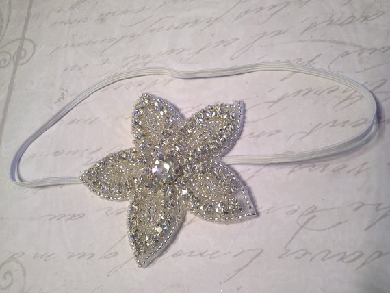 Baby headband starfish headband bling headband baby girl headband
