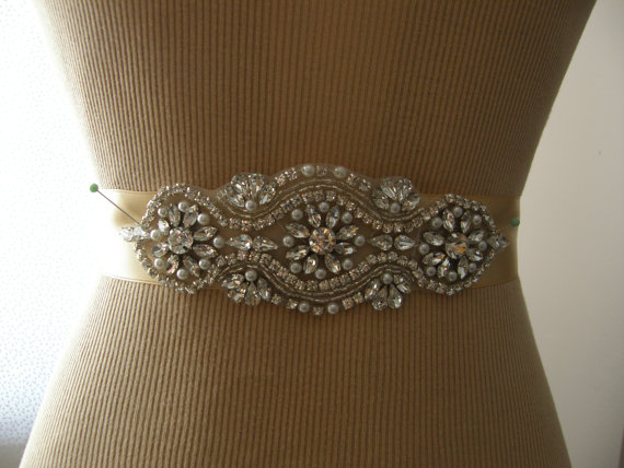 زفاف - SALE / Wedding Belt, Bridal Belt, Bridesmaid Belt, Sash Belt, Wedding Sash, Bridal Sash, Belt, Crystal Rhinestone & Pearl