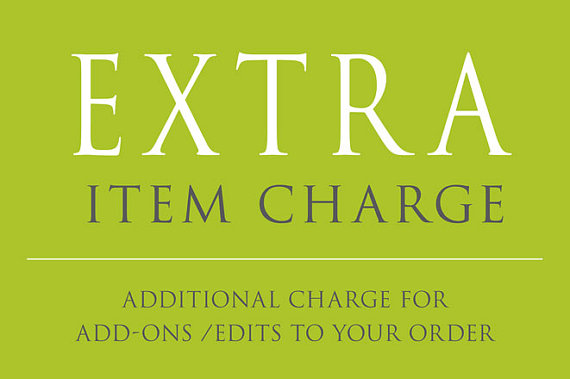 Mariage - Additional Charge or add-on your invitation card order. Custom Order Requests.