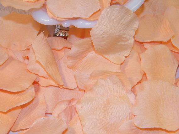 زفاف - Rose Petals Bulk, Artifical Petals 200, Peach, Bridal Shower Wedding Decoration, Flower Girl Basket Petals, Table Scatter, Pastel Wedding