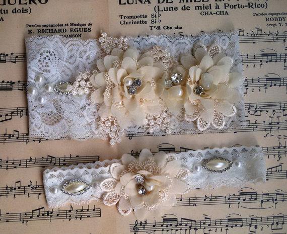 Wedding - Wedding leg garter, Wedding accessoaries, Bridal garter set, Bridal lace, Of white lace garter, Wedding leg , Wedding garter ivory