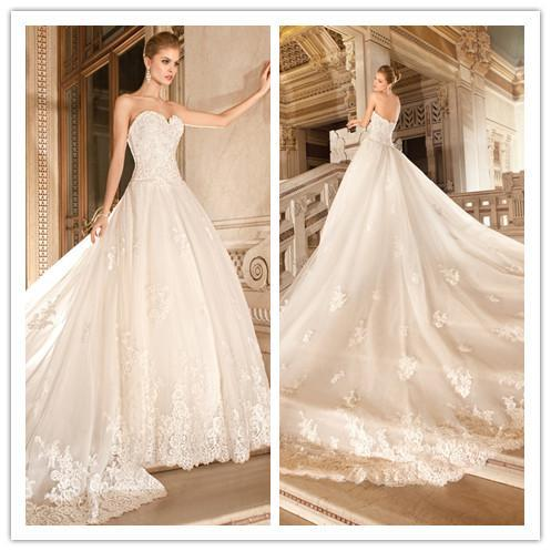 wedding exquisite wedding dresses 2015 court train ivory applique
