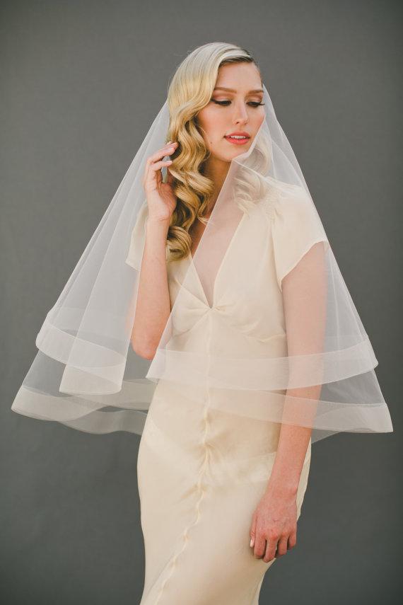 2 horsehair veil horse hair edge drop veil circle for Veil for champagne wedding dress