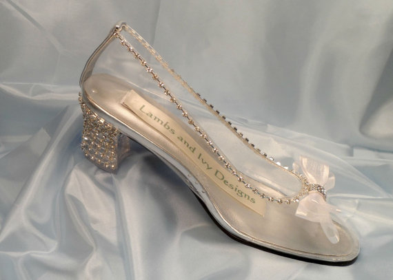 Glass Slipper Cinderella Shoes, Crystal Heels, Clear Shoes, Glass ...