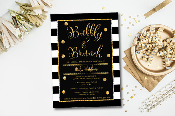 Bubbly and brunch bridal shower invitation bubbly brunch invitation bubbly and brunch bridal shower invitation bubbly brunch invitation bridal shower invitation gold and black filmwisefo