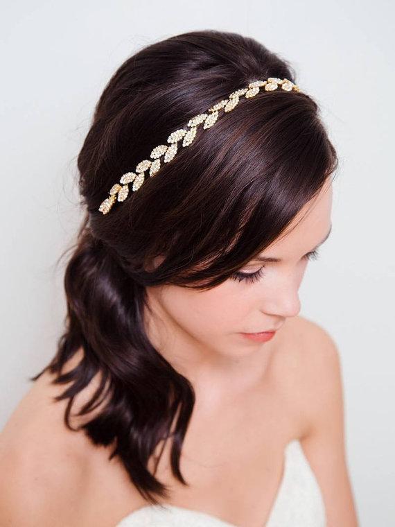 Свадьба - Gold Leaf Headband