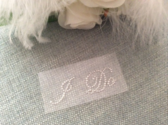 Mariage - I DO Stickers in Pearls, Wedding, Wedding Shoes, Bridal Accessory, Wedding Accessory, Shoe Accessory