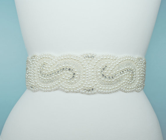 Wedding - Bridal Sash Belt Wedding Belt Pearls Belt Rhinestone Belt Crystal Belt Rhinestones and Pearls Sash Bridal Sash Wedding Sash Dress Sash