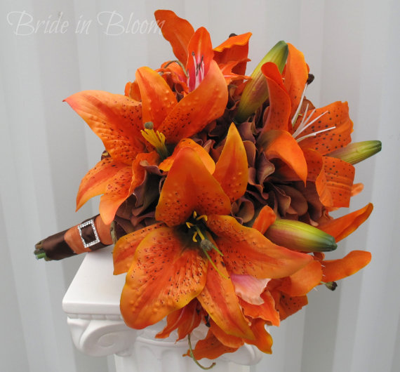 Tiger Lily Wedding Bouquet Wedding Tiger Lily Wedding