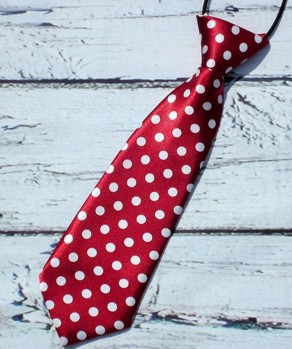 Свадьба - Crimson Red Polka Dot Neck tie baby Neck Tie Boys Neck tie infant toddlers kids neck tie, cake smash, birthday neck tie, photo prop