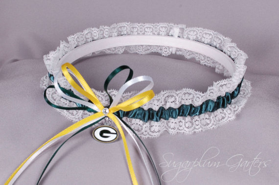 f1f3016c4 Green Wedding - Green Bay Packers Lace Wedding Garter #2293506 ...