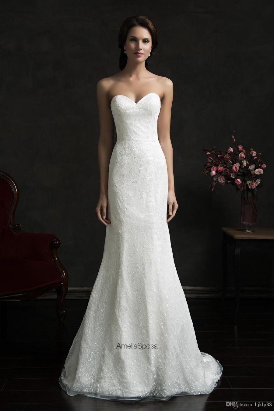 Bright simple style sleeveless wedding dresses 2015 amelia for Amelia sposa wedding dress