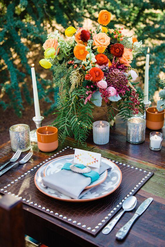Свадьба - Southwestern Boho Styled Shoot With Pretty Pops Of Color