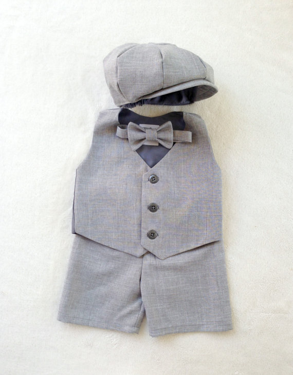Ring Bearer Gray Shorts