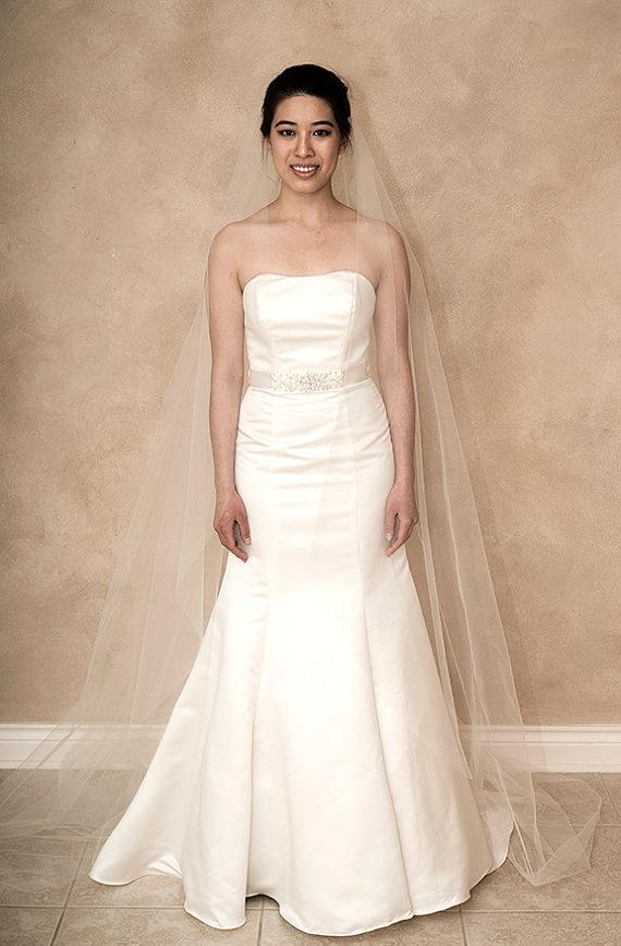 Свадьба - Mia** Cathedral Length Mantilla Veil, Wedding Veil, Bridal Veil, Ivory, White, Mantilla Veil, Tulle, Veil