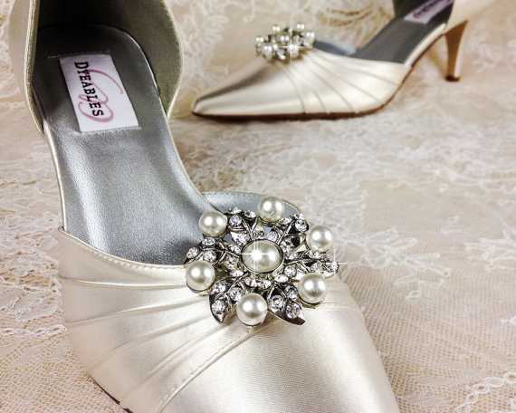02fcb14b84 Bridal Shoe Clip, Crystal Shoe Clip, Rhinestone Shoe Clip, Embellishment  for Bridal Shoes, Wedding Shoe Clips