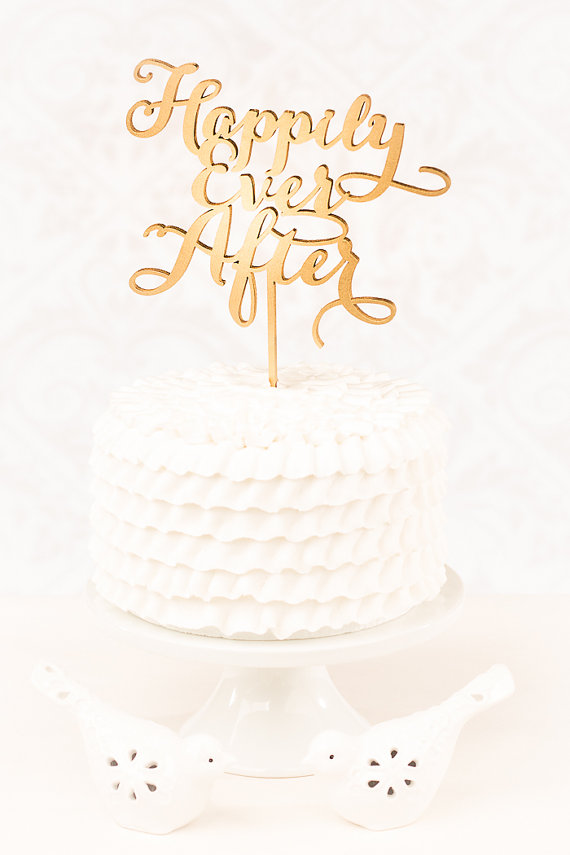 Wedding - Wedding Cake Topper - Happily Ever After- Soirée Collection