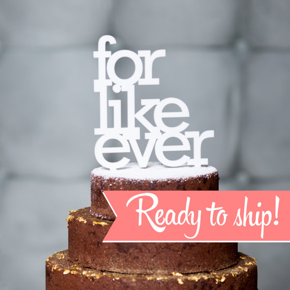 Mariage - for like ever wedding cake topper in white, gold, black and maple