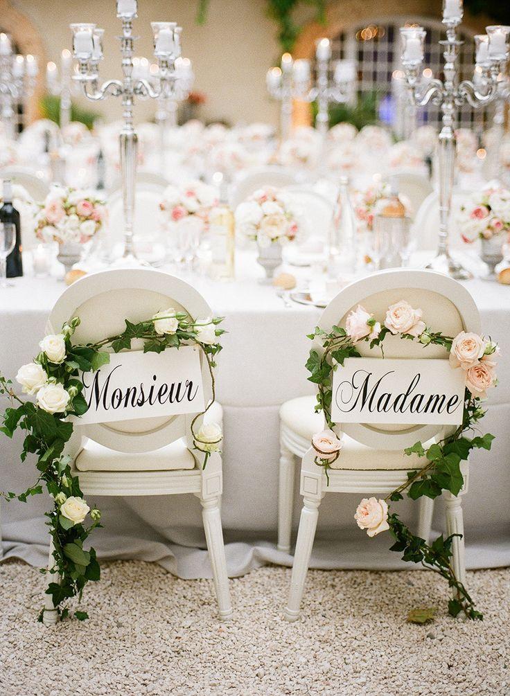 Свадьба - Wedding CHAIRS-Bride & Groom