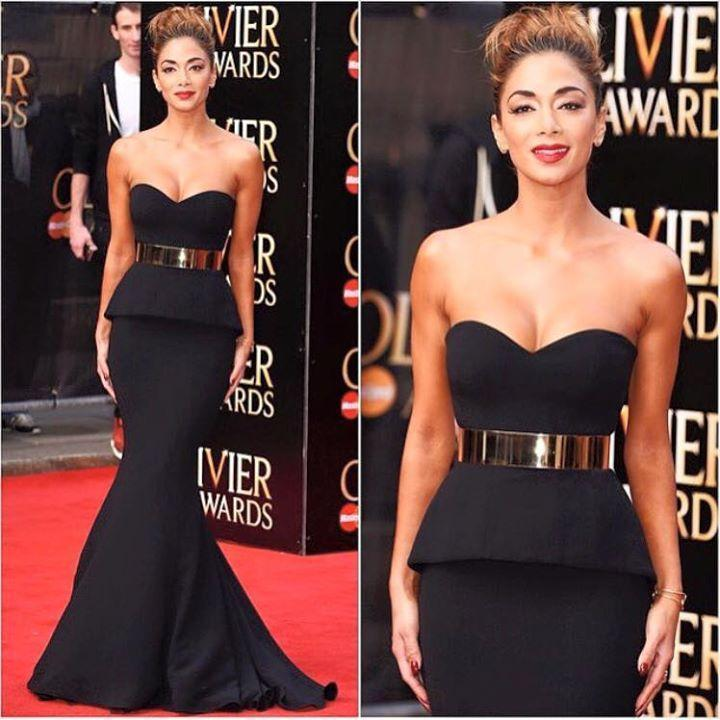 2015 Black Mermaid Evening Dresses With Sash Sweetheart Celebrity