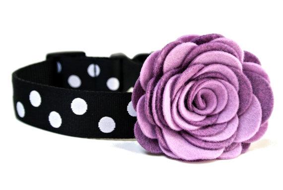 Mariage - Dog Collar Flower Add-on Felt Flower