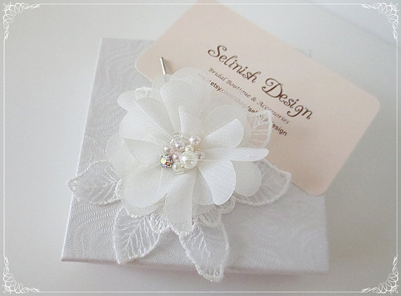 Flower Headpiece Chiffon Hair Hairpin Gifts White Accessories