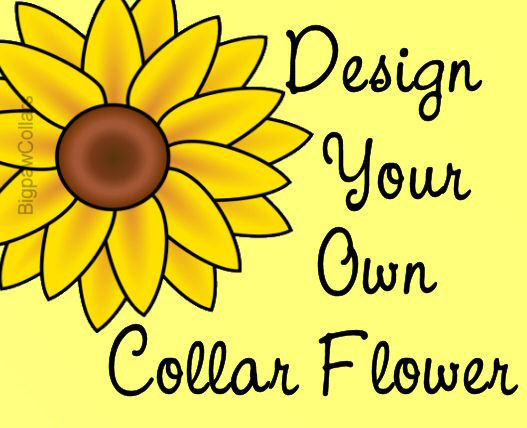 Свадьба - Custom Dog Flower Collar Attachment - Your Design Choice