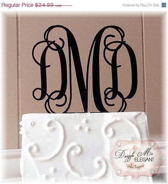 on sale custom wedding cake topper personalized monogram letter cake topper vine cake topper bride and groom