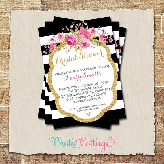 Bridal shower invitation glitter gold invitation peony invitations bridal shower invitation glitter gold invitation peony invitations bridal shower invites black white invitation bs119 filmwisefo