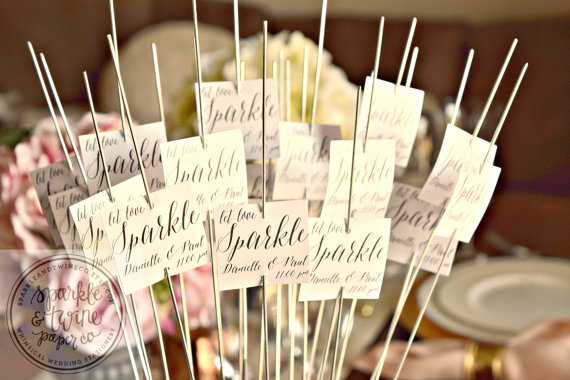 زفاف - Sparkler Tags, Sparkler Labels, Sparkler Exit Tags, Wedding Sparkler Send Off, Wedding Favors (SP09) - Set of 48