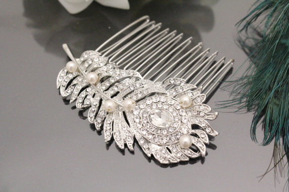 Hochzeit - Wedding hair comb bridla hair jewelry wedding comb bridal hair accessory wedding hairpiece bridal headpiece wedding accessory bridal jewelry