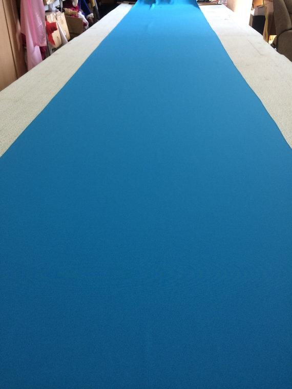 Mariage - Cobalt Blue Gray Custom Made Aisle Runner 50 Feet Long 36 inches Wide