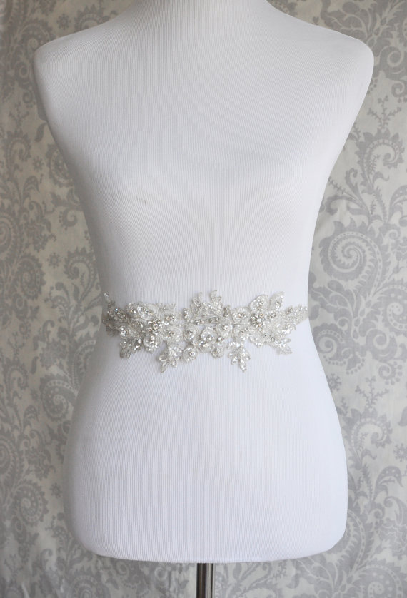 Свадьба - Reserved - Crystal Sash with Wider Ribbon