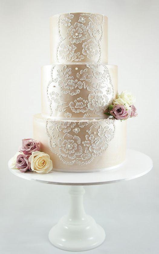 Wedding Cakes 40 So Pretty Lace Wedding Cake Ideas 2294988 Weddbook