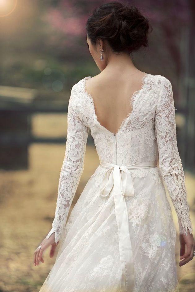 e6041f090a9 Lace Wedding - 30 Gorgeous Lace Sleeve Wedding Dresses  2295159 ...