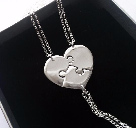 Wedding - Silver Bridesmaid Necklaces For 3